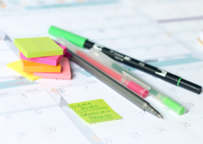 Use pens, markers, post-its and stickers on your printed planner