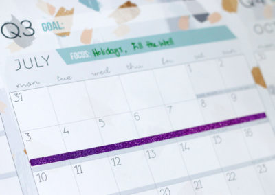 Block out holidays and important dates so you know when they're coming up