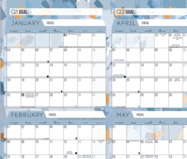 Blue wall planner